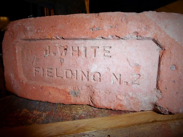 A kimbolton brick at Coach House Museum NZ