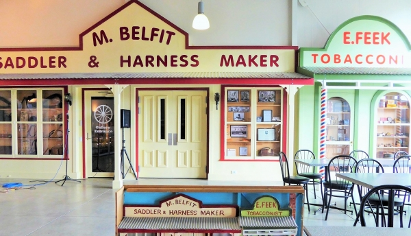 Replica façade of old Feilding shops greets visitors to Coach House Museum